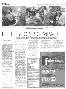apr2017 - dekalb free press Small Shop, Big Impact