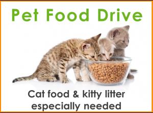 Pet Food Drive!