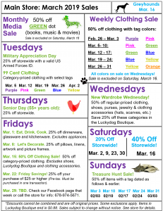 March Sales!
