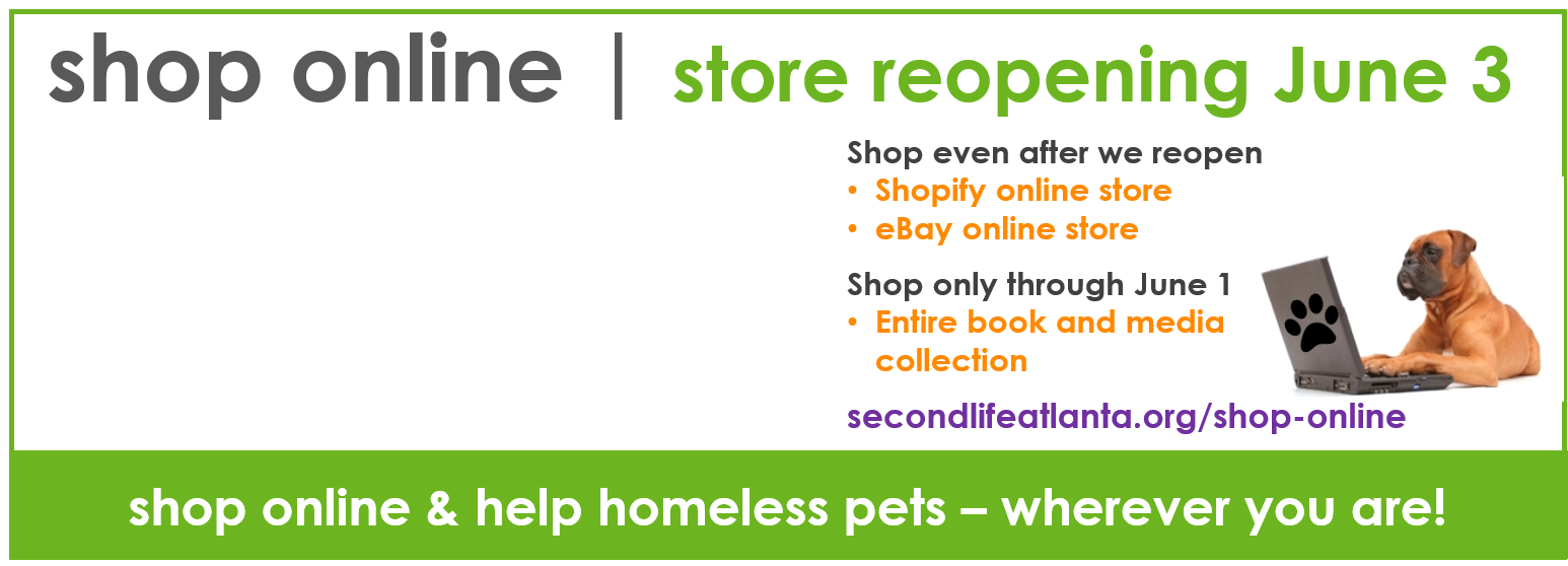 Shop Online for homeless pets!